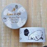Aimez le style 28mm和紙膠帶 (04734 北極熊)