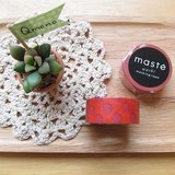 maste Masking Tape 和紙膠帶 Basic 復古暖色系【酒紅水玉 (MST-MKT05-BD)】