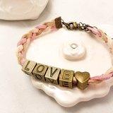 ♥可自選字母♥ 編織手環 - 《意義》  客製款