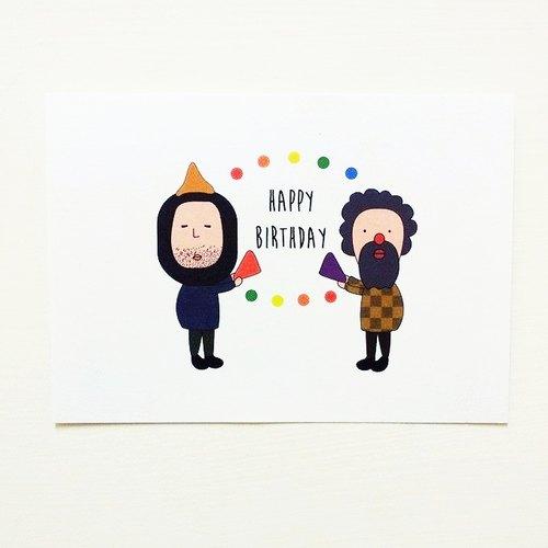 用可爱的阿伯问候朋友祝朋友们生日快乐