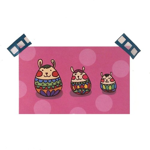 【禮物小卡】 俄羅斯兔娃娃卡片