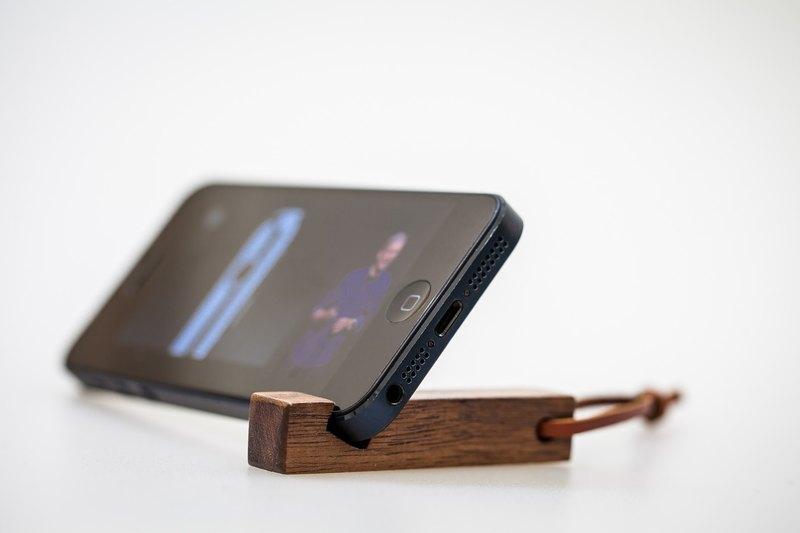 Wooden Key Ring Mobile Phone Holder