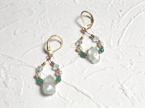 法式小清新绿宝石耳环