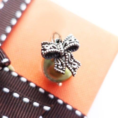 蝴蝶 珍珠 聖誕 純銀 限量手工 墜子