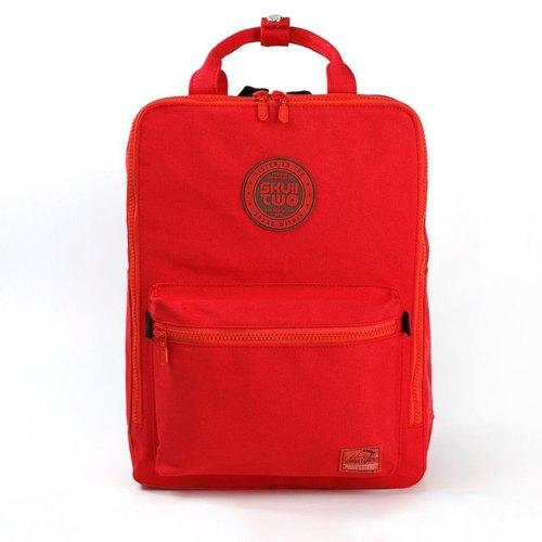 [SKUllTWO BAG] 法拉利紅 / 帆布後背包 / 附防塵袋