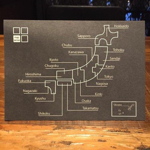 Cater- Japan 日本 Map Series明信片