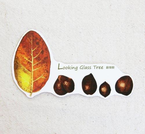 湘 手繪銀葉樹貼紙