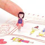右手超人割型透明小貼紙 / 第五組
