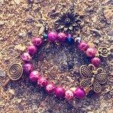 粉色系-古銅吊飾