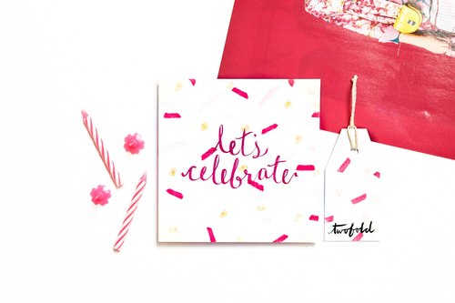 万用/祝贺/生日卡片 - 一起庆祝 生日卡 祝贺卡 万用卡 祝贺卡片 万
