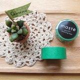 maste Masking Tape 和紙膠帶 Basic 亮彩明色系【素色綠 (MST-MKT01-GN)】