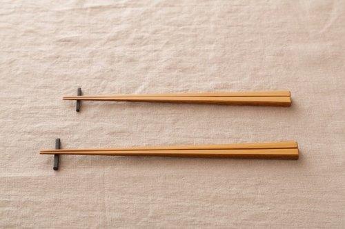 Pint! 京都竹筷子 白竹 漆擦 24cm