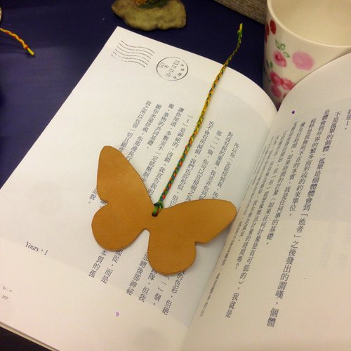 手工皮革蝴蝶书签 动物 挂饰