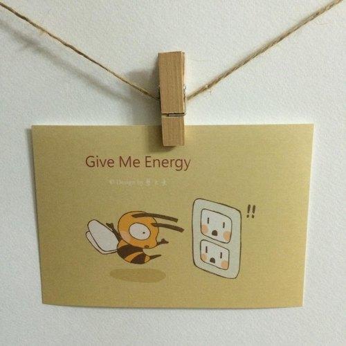《藝之魚》Give Me Energy 卡片 明信片 --C0183