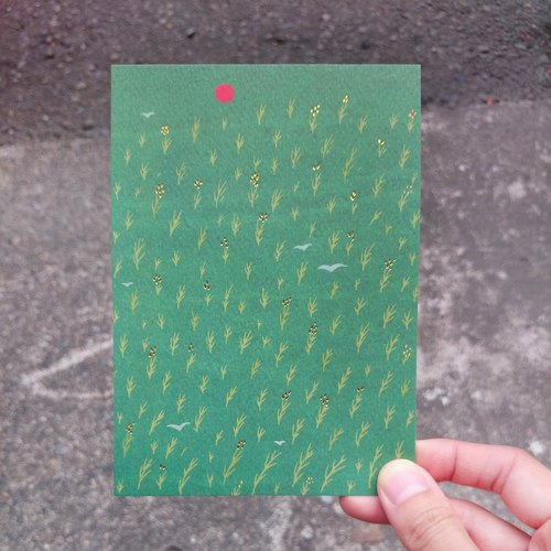 《KerKerland》纍纍稻穗,是豐盛的模樣☉明信片