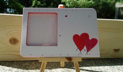 纪念日 父亲节 母亲节 卡片 ,空白处可手绘喔~~有附上牛皮纸信封盒喔