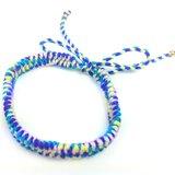 「紫黃藍粉日本進口繩 x 純手工編織」