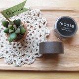 maste Masking Tape 和紙膠帶 Basic 復古暖色系【咖啡 (MST-MKT04-BR)】