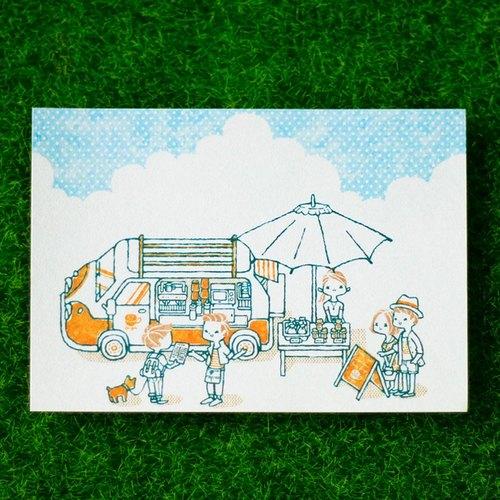░ 明信片 / 咖啡餐車 ░