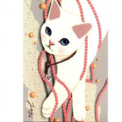 JETOY,Choo Choo 甜蜜貓第二代明信片_Pearl shiny (J1407119)