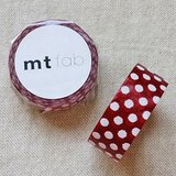 mt 和紙膠帶 fab 植絨系列【水玉款 紅+白(MTFL1P10)】