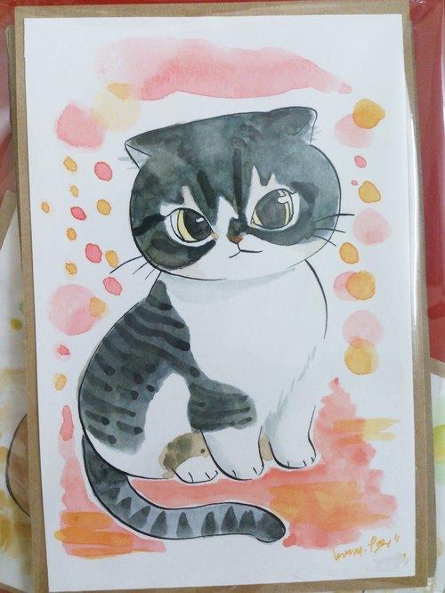 日本手绘动漫猫