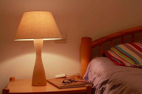 自制简易木质台灯步骤图