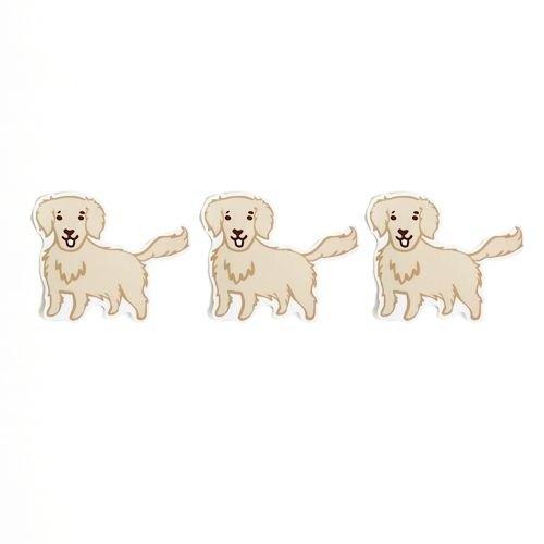 1212玩樂設計 逗趣到處貼 防水貼紙-黃金獵犬