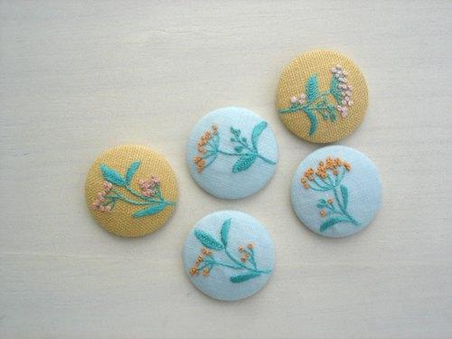 花朵手工刺绣磁铁 - iloveinamist