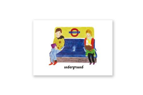 【 London A - Z 】明信片 - 愛的倫敦地鐵