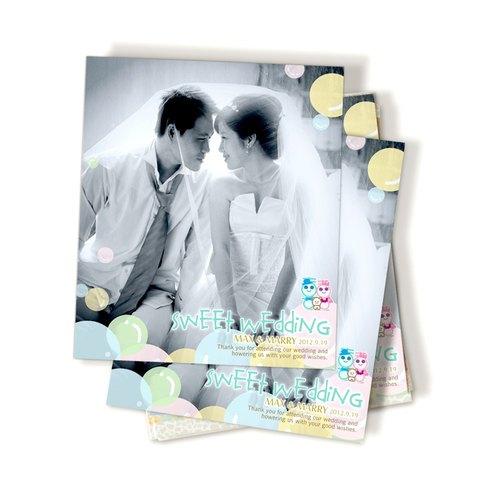 喜娃娃趣味謝卡─喜餅卡、結婚謝卡、婚禮遊戲卡