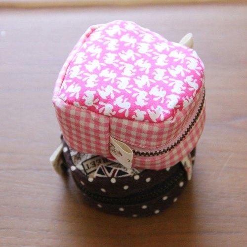 專屬訂單 -  (純棉布料) 【w528_120 小玉兔可愛零錢包-材料包】3色可選
