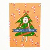 聖誕樹明信片