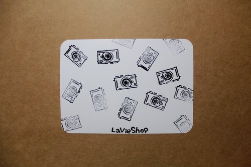 【LaVieShop*手作雜貨】相機跳跳舞 GF1 微單眼相機 EVIL.手工刻印明信片/卡片.高質感防水相紙
