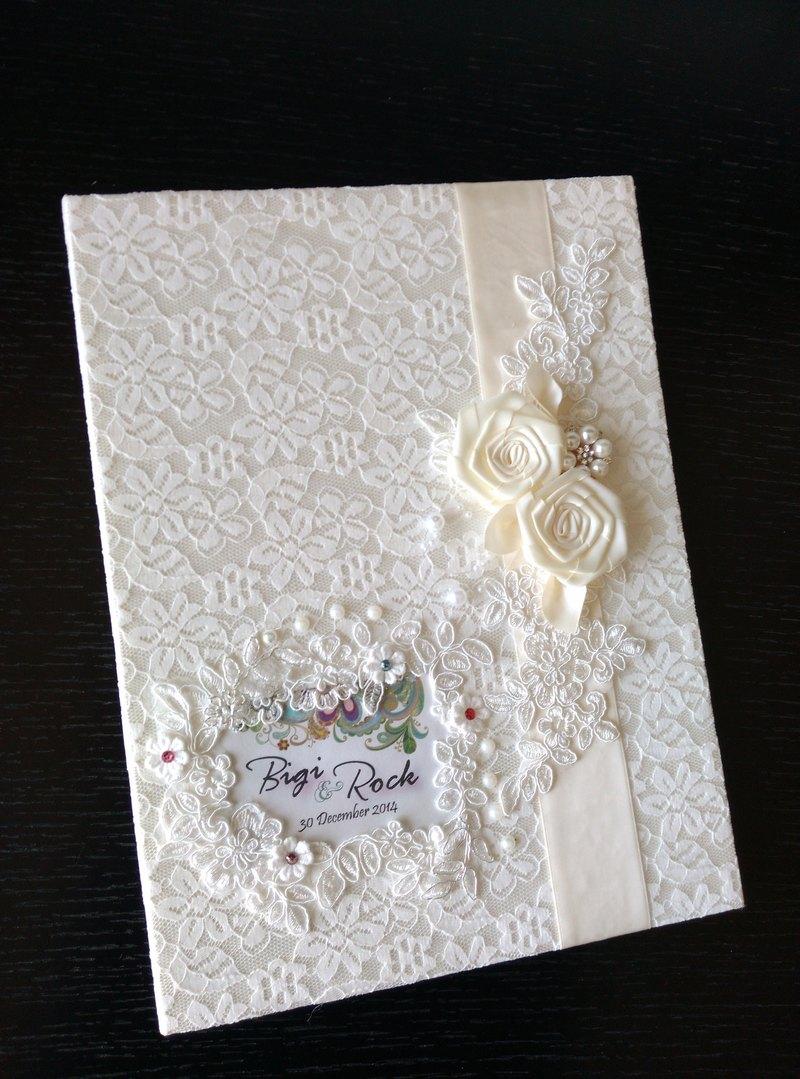 結婚證書夾 結婚書約夾 - 米白系1