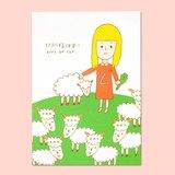 小羊明信片