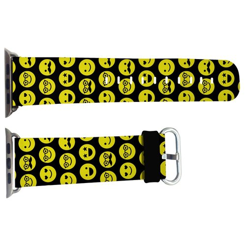 黃色ICON款蘋果手錶真皮錶帶 Apple Watch 專用真皮錶帶, 配有42mm 及 38mm 款色 (WB06)