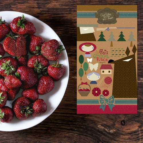 賣腦瓜極簡童話系列明信片 - 小紅帽 Le Petit Chaperon rouge