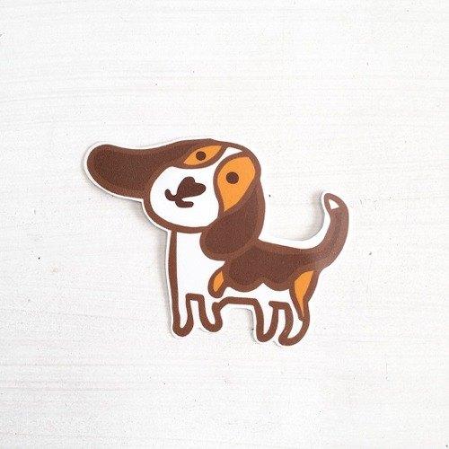 逗趣到處貼防水貼紙- 狗兒 米格魯