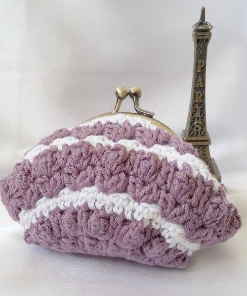 maymade╮钩织零钱包 (暗紫色) 手工制作 handmade