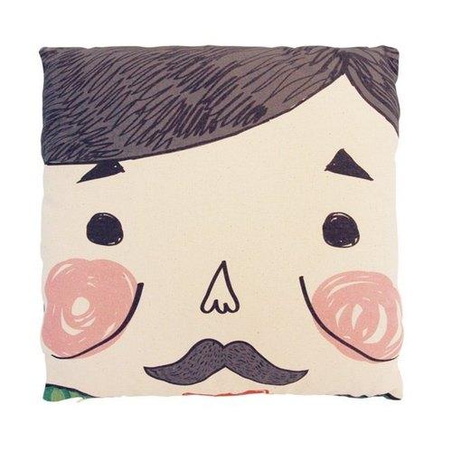 父親節禮物-鬍鬚爸爸好家在抱枕套