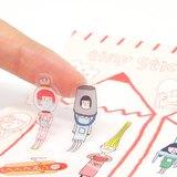 右手超人割型透明小貼紙 / 第三組