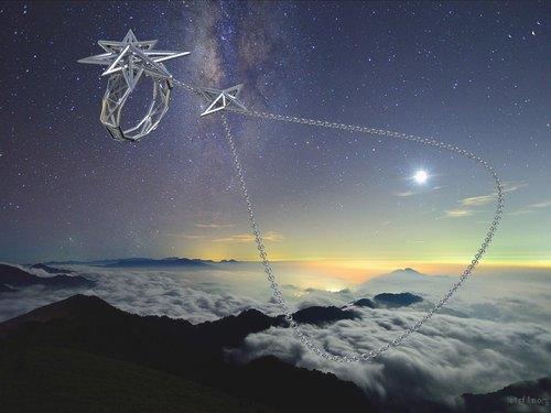真理系列-925銀 純銀 POLARIS 2.0 北極星 戒指手鍊 可拆卸 3D列印 立體 結構 建築 戒指連手鏈