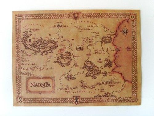 手作-【复古推荐】纳尼亚传奇narnia藏宝图老地图怀旧复古牛皮纸海报