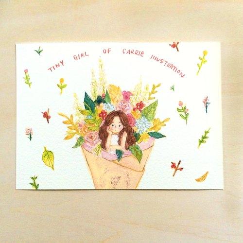设计馆 carrie illustration联络设计师 手工制作 原创商品 / 明信片