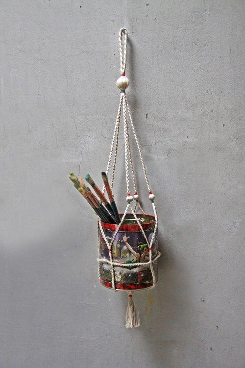 孟加拉手工藝~SIKA黃麻掛繩~Hanger~