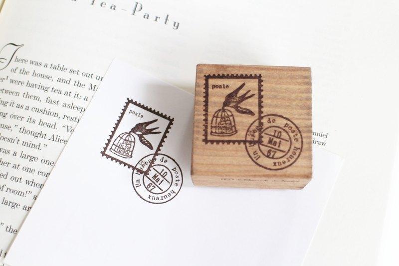 ... 仿郵票圖樣 燕子圖樣 木頭印章 - ako-japan GALLERY | Pinkoi