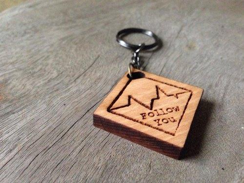 ★★預購情人節限定優惠一對$500★★Follow you - 心電圖設計款山毛櫸木鑰匙圈