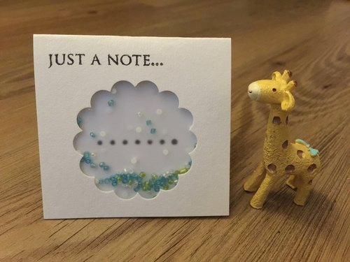 "[Rions Studio 小手作] ""Just a note""card - 搖搖卡 心意卡 多謝卡 感謝卡 萬用卡片- 可客製化"