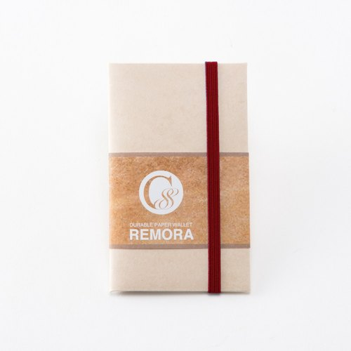 Ultra Light Wallet REMORA / Ivory&Red